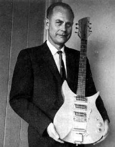 """Adolph Rickenbacker is the inventor of the first modern electric guitar as well as the first solid body electric #guitar called """"The Frying Pan""""."""