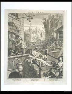 inch mm) frame with high quality print (other products available) - HOGARTH: GIN LANE. <br>& Street and Gin Lane.& Steel engraving, after the original by William Hogarth - Image supplied by Granger Art on Demand - inch Frame and mount made in the UK Poster Prints, Framed Prints, Art Prints, William Hogarth, Cool Posters, Photo Library, Heritage Image, Metal Wall Art, Photo Wall Art