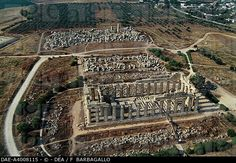 selinunte archaeological park | Aerial view of temples E and F in the Archaeological Park of Selinunte ...