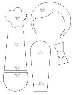 Maripê: Molde de boneca de tecido