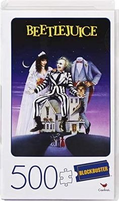 Amazon.com: Beetlejuice Movie 500-Piece Adult Jigsaw Puzzle in Plastic Retro Blockbuster VHS Video Case : Toys & Games Beetlejuice Movie, Fun Board Games, Get Educated, Kids Party Supplies, Family Night, Cute Halloween, News Games, Great Pictures, Jigsaw Puzzles
