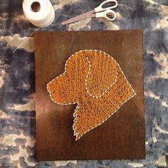 Custom dog string art by Heartstrings7