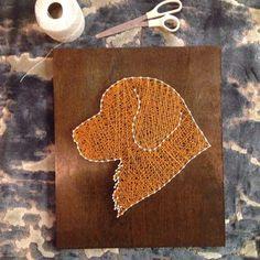 Custom dog string art by Heartstrings7