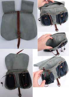This is a historically accurate bollock pouch (yes, that's it's real name, due to the design) taken from a 14th century design. All handstitched and handmade, mostly whilst watching Sons of Anarchy. These blighters have a shedload of storage space, making them awesome. Made with historically accurate materials.