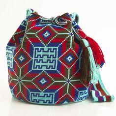 Hermosa Wayuu Mochila | WAYUU TRIBE – WAYUU TRIBE | Handmade Bohemian Bags Tapestry Bag, Tapestry Crochet, Knit Crochet, Boho Bags, Bohemian Bag, Mochila Crochet, Crochet Backpack, Crochet Handbags, Micro Macrame