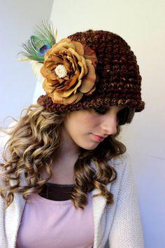 Crochet Hat Pattern Womens Cloche Crochet by PatternsByKrissy