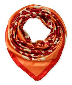 corciova Women's silk Like scarf for hair wrapping headwrap 35 x 35 inches Coral with Red $9.99 Free Shipping