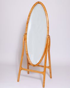 Oval Mirror, Figured Maple, Wenge  SOLD
