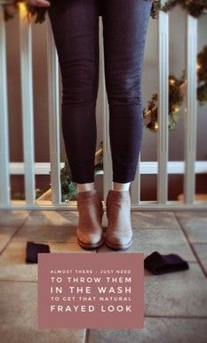 women's fashion, how to make your own frayed hem jeans, denim, booties, fashion, stylist, how to wear, fall trends, home made jeans, cut off jeans, frayed jeans, frayed denim, fall boots, winter boots #fallbooties #newjeans #winterboots #savemoney #trendsetter #frayedhem #homemadedenim #ankleboots #denimlover #startwearingconfidence