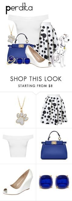 """Perdita"" by sjade9 ❤ liked on Polyvore featuring WearAll, Fendi, Trina Turk, Marco Bicego, modern, disney, disneybound, 101Dalmatians and moderndisney"