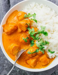 This easy vegetarian potato curry has a delicious orange sauce similar to an Indian tikka masala sauce.