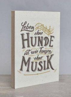 Retro-Schilder Hundefreund-Holzschild: Leben ohne Hunde ist wie Tanzen ohne Musik
