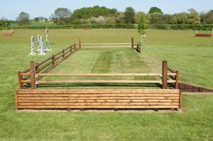 Grass field - love the built in jump cups! Love this totally need to build one!