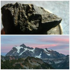 the mountain across the way and a tool I found