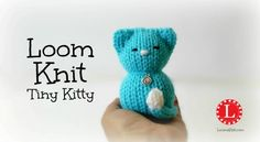 The Tiny Kitty is a cute stuffed animal pattern which includes a step by step video tutorial. Use any small knitting loom.