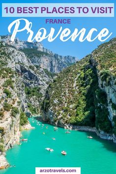 Best Things to Do in Provence, France – Road Trip Tips Find out about the 10 best places to visit in Provence France I where to go in France I Where to visit in Provence I Lavender fields Provence I Gorge du Verdon Provence Aix En Provence, Provence France, Best Places To Travel, Oh The Places You'll Go, Beautiful Places To Visit, Cool Places To Visit, Loire Valley, Europe Travel Tips, Travel Destinations