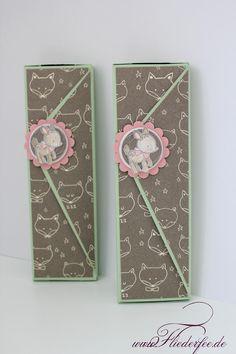 Daniela Astor: Anleitung für eine Hello-Lindt-Schokoladenverpackung mit dem Gift Bag Punch Board