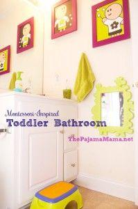 Montessori-Inspired Toddler Bathroom