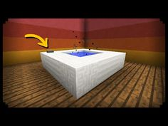 ✔ Minecraft: How to make a Working Hot Tub - YouTube