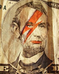 abraham bowie lincoln. five dollars