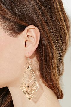 Diamond-Shaped Drop Earrings | Forever 21 - 1000182217