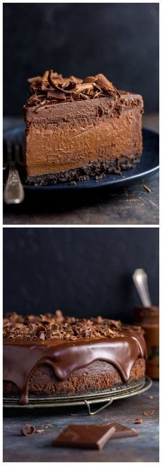 Ultimate Chocolate Cheesecake – The Best Chocolate Cheesecake Recipe Rich, creamy, and supremely flavorful, this is the ULTIMATE Chocolate Cheesecake! It's so easy to make and freezer friendly! Best Chocolate Cheesecake, Chocolate Desserts, Chocolate Cake, Vegan Cheesecake, Cheesecake Bars, Chocolate Lovers, Breakfast Cheesecake, Ultimate Cheesecake, Craving Chocolate