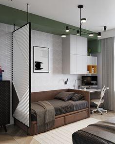 Design: Room-Room interiors Viz: Alexey Seldin Room Interior, Home Interior Design, Bedroom Colors, Bedroom Decor, Study Room Design, Home Office Decor, Home Decor, Tiny Spaces, Furniture Design