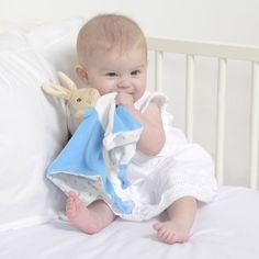 Baby-soft, Peter Rabbit Comfort Blanket. A perfect gift for a baby shower! #Peterrabbit #beatrixpotter #babyshowergifts #misterpanda #newborn