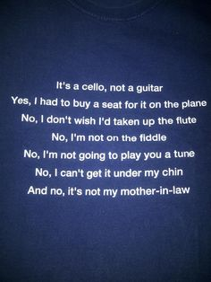 Cellist's tee shirt