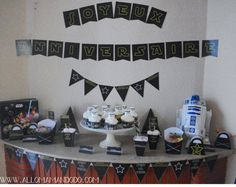 anniversaire starwars Star Wars R2d2, Anniversaire Star Wars, Star Wars Party, Photo Wall, Diy, Birthday Cake, Starwars, Frame, Photos