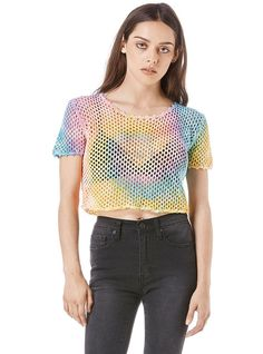 Bella Mesh Crop 90s Fashion, Fashion Outfits, Fashion Trends, Unif Clothing, Pants Outfit, Festival Fashion, Dress To Impress, Crop Tops, Mesh