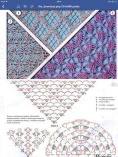 """Schéma ou diagramme pour Crochet Modèle """"Chèche ou Châle"""""""