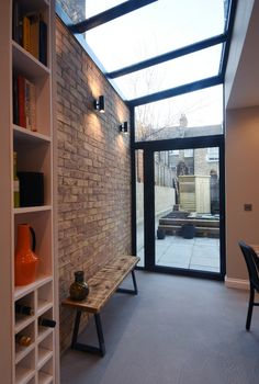Greyhound Road. Side Return Extension. Internal View. Brickwork. Dinning Room Side Return Extension, Sustainable Environment, Architectural Services, Property Development, Small Studio, Brickwork, New Builds, Extensions, Architecture Design