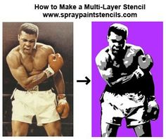 Stencil Tutorials: Learn How to Make a 3 Part Multi-Layer Stencil, in photoshop Stencil Graffiti, Stencil Painting, Spray Painting, Design Tutorials, Art Tutorials, Rangement Art, Spray Paint Stencils, 3d Art, Portraits