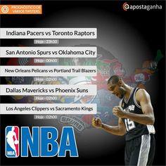 Agora vai virar rotina... A NBA voltou e nós não podíamos ficar de fora... Confiram os Prognósticos que separamos para vocês...   http://www.apostaganha.com/2015/10/28/prognostico-apostas-indiana-pacers-vs-toronto-raptors-nba-5/  http://www.apostaganha.com/2015/10/28/prognostico-apostas-san-antonio-spurs-vs-oklahoma-city-thunder-nba-3/  http://www.apostaganha.com/2015/10/28/prognostico-apostas-new-orleans-pelicans-vs-portland-trail-blazers-nba…