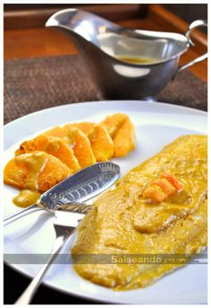 Lenguado en salsa de naranja Cocina Light, Shrimp, Seafood, French Toast, Cooking Recipes, Fish, Breakfast, Html, Spanish