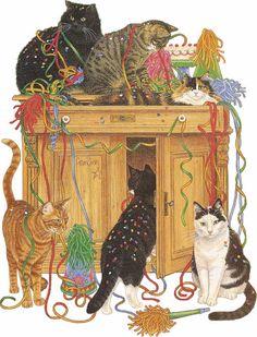 chats qui font la fête