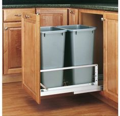 View the Rev-A-Shelf 5349-2150DM-2 5349 Series Double 50 Quart Pull Out Waste Container with Soft-Close Slides at Build.com.