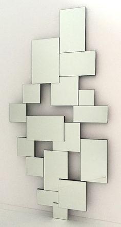 #Espejo Moderno formando rectángulos 140X70cm