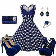Sweet polka dot print dress
