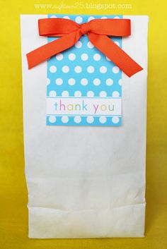 Free printable for thank you bag