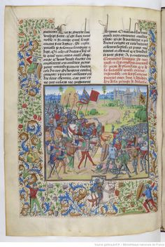 Chroniques de Jean Froissart (BNF, Fr 2644) William Morris designs-he was inspired by 15th  cen dutch translation of Jean Froissart Chronicles of the 100yrs war 1326-1400