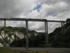 The Northener crossing the South Rangitikei [Mangaweka] Viaduct, Rangitikei River. I have based an art quilt on this image. Train Station, Quilt Making, So Little Time, Trains, Community, River, Quilts, World, Inspiration