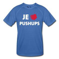Freeletics T Shirt Je t'aime PUSHUPS #ClapClap #NoExcuses