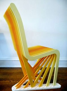 New Profile Chair line, designed by Elissa Masin.  With natural flow and body contouring abilities, these chairs can be suited for your dimensions. Pick any color(s) and watch them fade or blend.    http://surfacegrooves.com/projects/furniture/