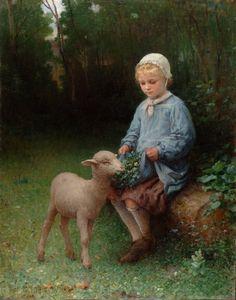 The Pet Lamb, William Henry Lippincott. American (1849-1920)