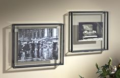 Create the look of a display box on any wall with these clear glass dimensional picture frames from J. Devlin Glass Art. Clean lines works with any type of decor.