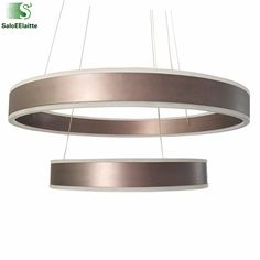 Dimmable luminaria Led Pendant Light Double Lighting Layers Acrylic Circle Ring Suspension Lamp Foyer Hang Lamp Fixtures