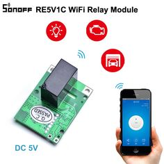 SONOFF RE5V1C Relay Module 5V WiFi DIY Switch Dry Contact Output Inching/Selflock Working Modes APP/Voice/LAN Control Smart Home-in Home Automation Modules from Consumer Electronics on AliExpress Iot Smart Home, Smart Home Automation, Wifi, Ios News, Life App, Ali Express, Control, Tecnologia, Accessories