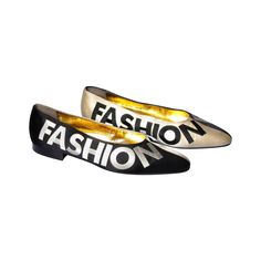 """Iconic Moschino Vintage """"Fashion"""" """"Fashioff"""" Shoes Size 40 